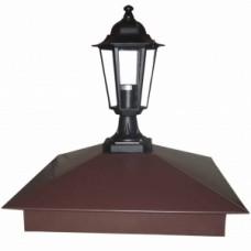 Колпак на столб забора с фонарем, mat PE SSAB 0,5